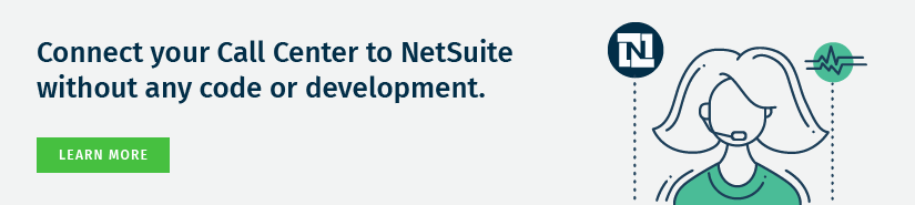Connect your Call Center to NetSuite without any code. Learn More